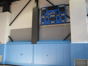 Backstops, wall pads and bleachers – PS 188 Brooklyn, NY